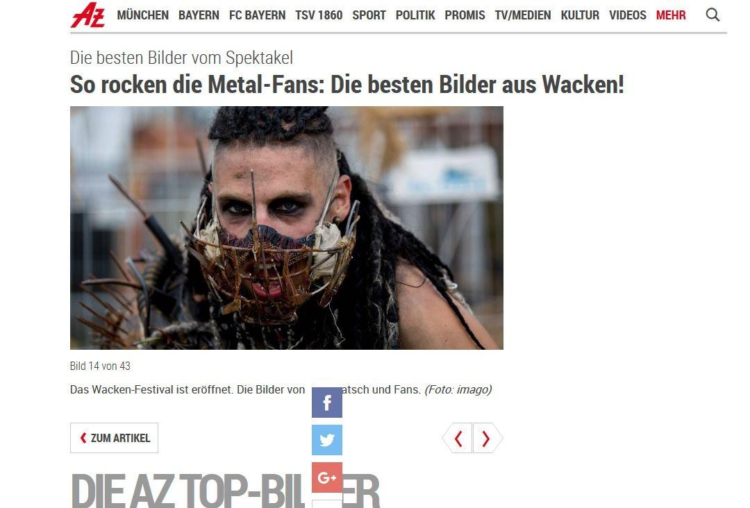 Das Wacken Festival ist eröffnet. Die Bilder von Bier Matsch und Fans.