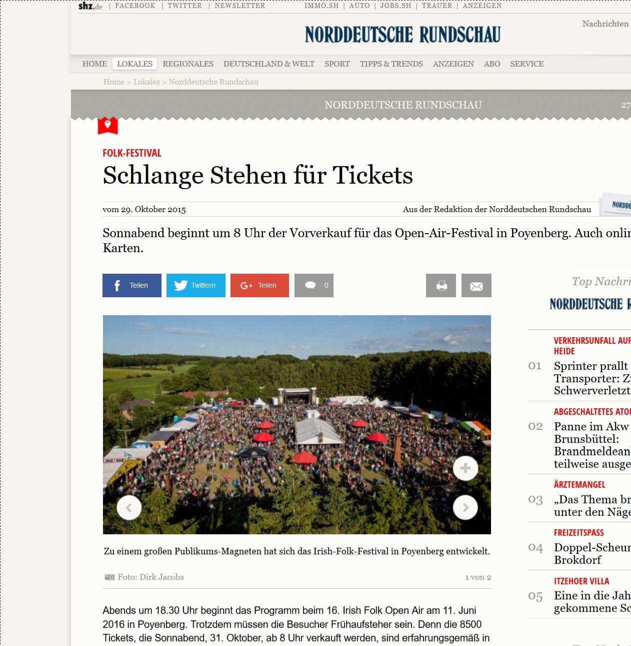 Folk Festival Schlange Stehen für Tickets shz.de(2)