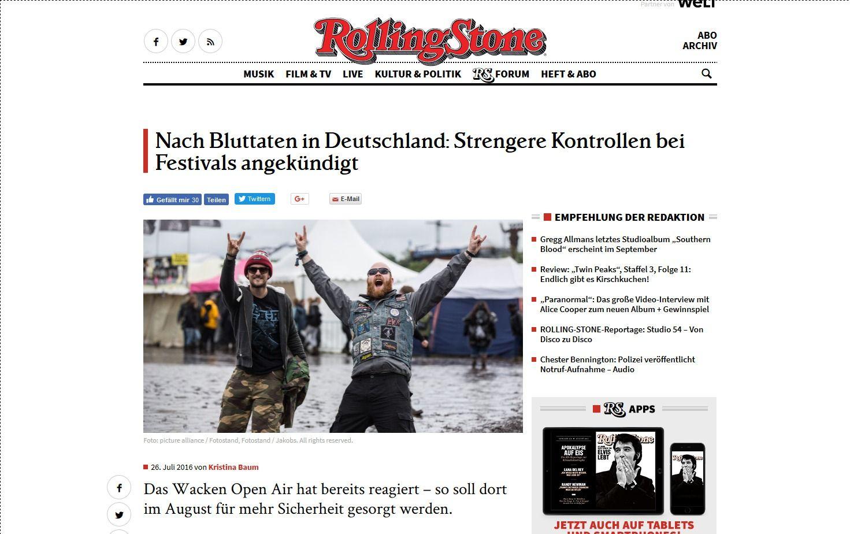 Nach Bluttaten in Deutschland Strengere Kontrollen bei Festivals angekündigt