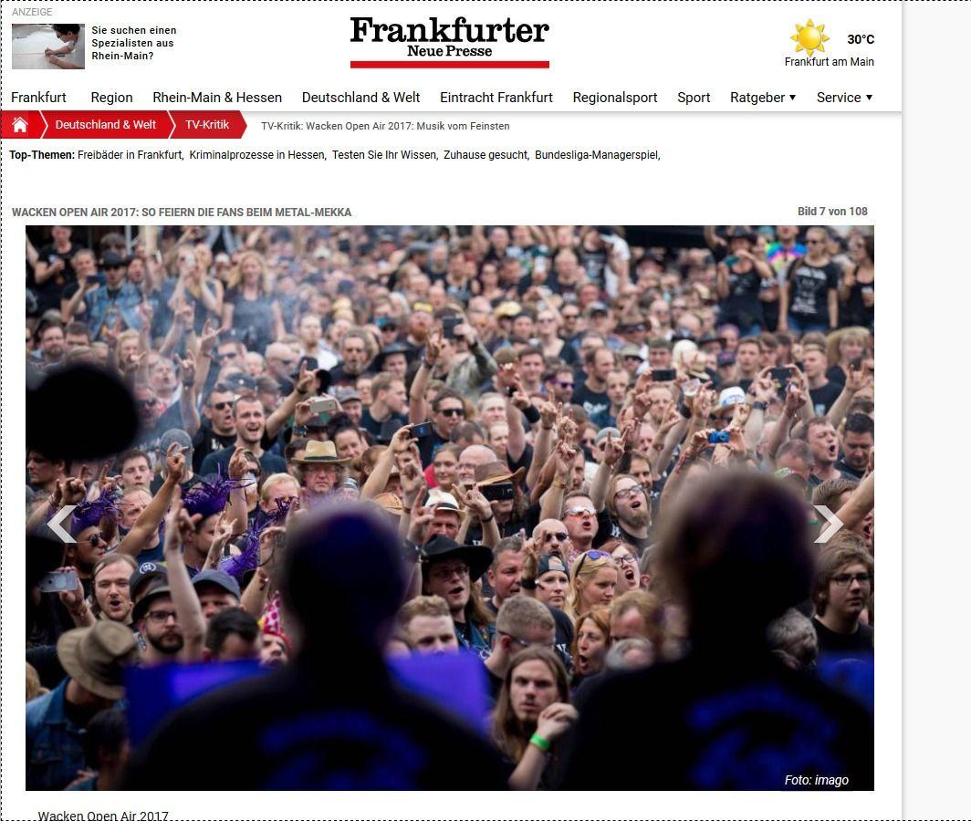 TV Kritik Wacken Open Air 2017 Musik vom Feinsten Frankfurter Neue Presse(1)
