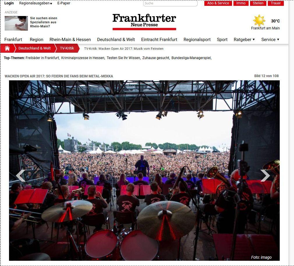 TV Kritik Wacken Open Air 2017 Musik vom Feinsten Frankfurter Neue Presse(11)
