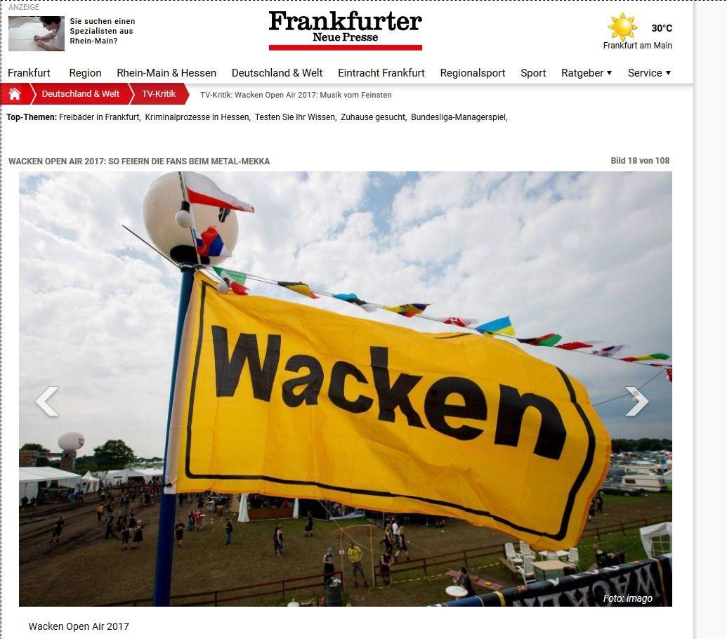 TV Kritik Wacken Open Air 2017 Musik vom Feinsten Frankfurter Neue Presse(13)