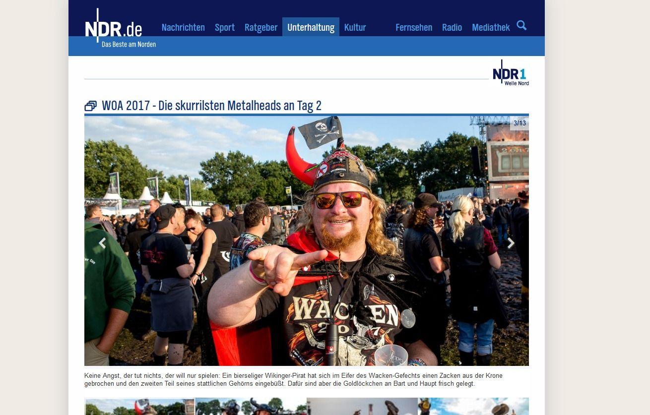 WOA 2017 Die skurrilsten Metalheads an Tag 2 NDR.de Unterhaltung Events Wacken Open Air 2017