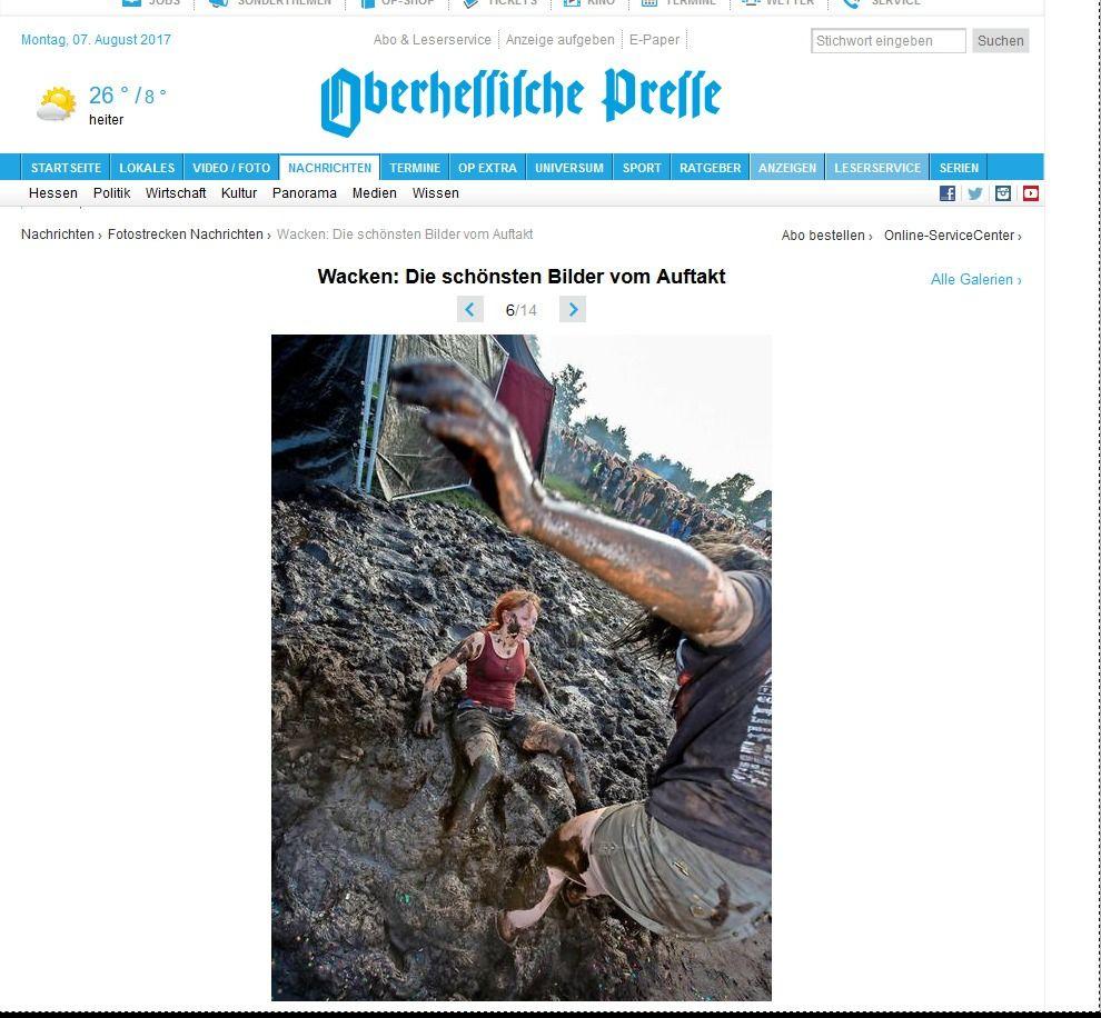 Wacken Die schönsten Bilder vom Auftakt Fotostrecken Nachrichten Nachrichten op marburg.de Oberhessische Presse Zeitung für Marburg Biedenkopf