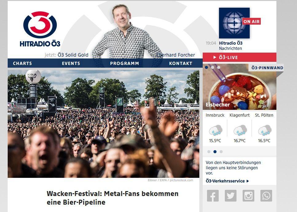 Wacken Festival Metal Fans bekommen eine Bier Pipeline oe3.ORF.at