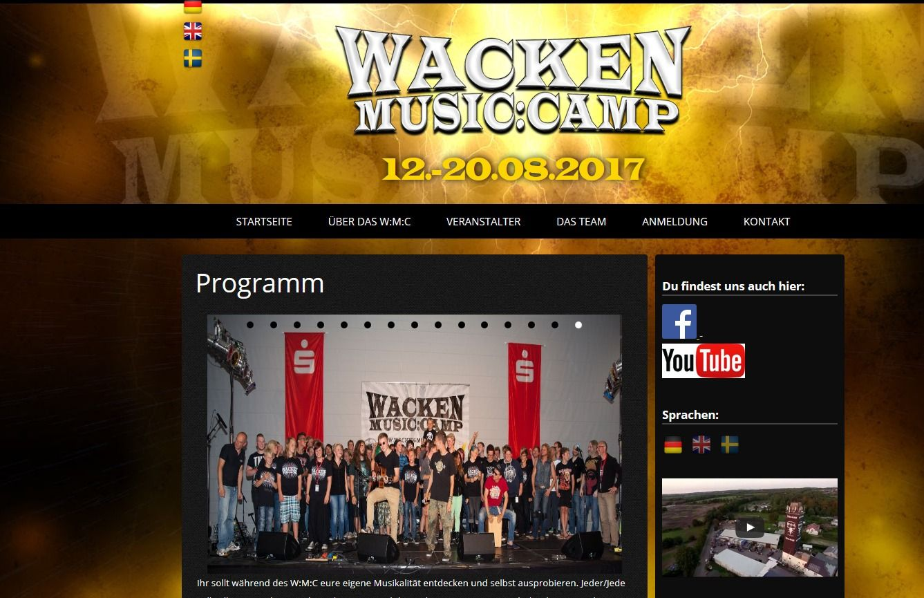 Wacken Music Camp Programm