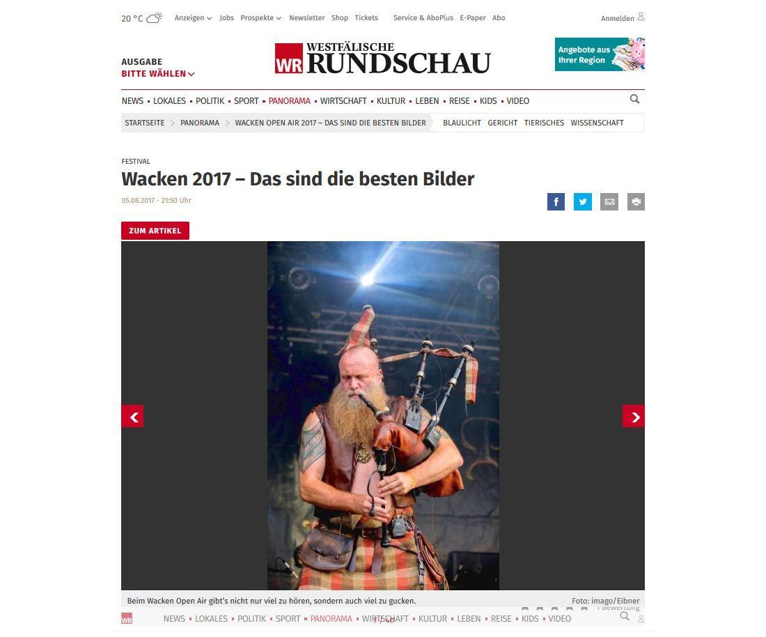 Wacken Open Air 2017 – Das sind die besten Bilder Aktuelle Nachrichten aus aller Welt WR.de