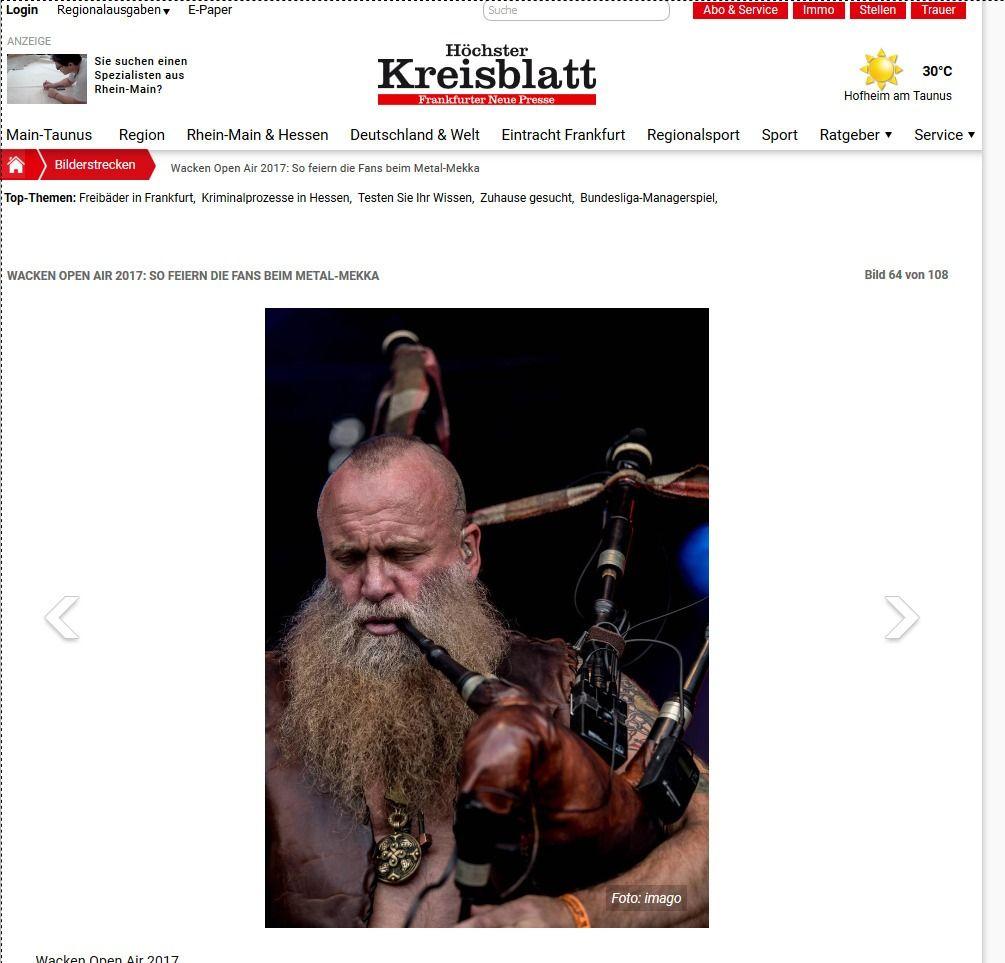 Wacken Open Air 2017 So feiern die Fans beim Metal Mekka Bild 28 von 108 Bildergalerie Höchster Kreisblatt