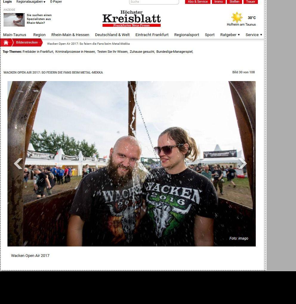 Wacken Open Air 2017 So feiern die Fans beim Metal Mekka Bild 28 von 108 Bildergalerie Höchster Kreisblatt(10)