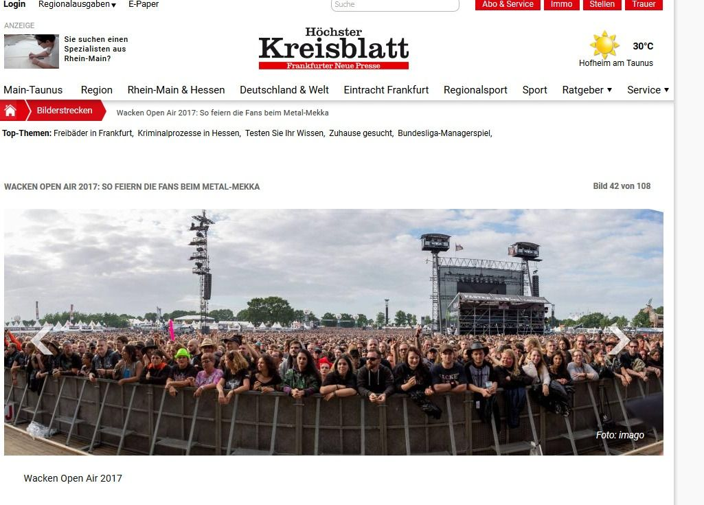 Wacken Open Air 2017 So feiern die Fans beim Metal Mekka Bild 28 von 108 Bildergalerie Höchster Kreisblatt(3)