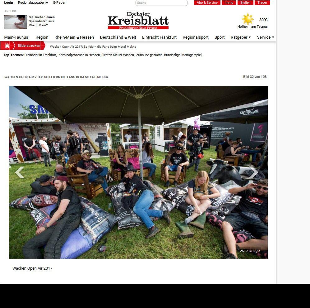 Wacken Open Air 2017 So feiern die Fans beim Metal Mekka Bild 28 von 108 Bildergalerie Höchster Kreisblatt(8)