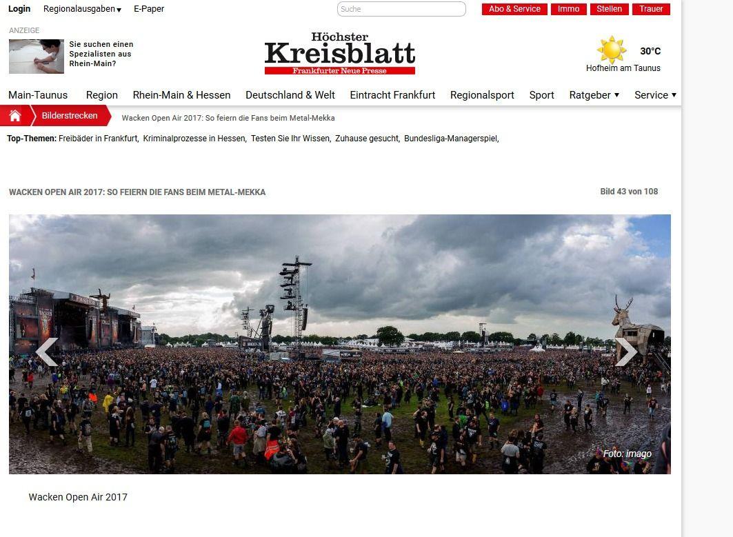 Wacken Open Air 2017 So feiern die Fans beim Metal Mekka Bild 28 von 108 Bildergalerie Höchster Kreisblatt(2)