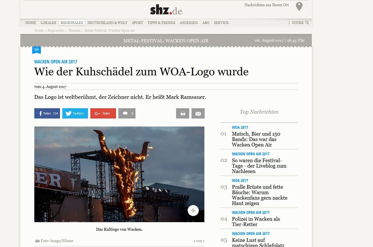 Wacken Open Air 2017 Wie der Kuhschädel zum WOA Logo wurde shz.de