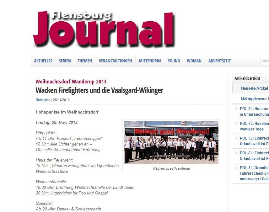 Weihnachtsdorf Wanderup 2013 Wacken Firefighters und die Vaalsgard Wikinger Flensburg Journal Flensburg Journal Flensburger Nachrichten